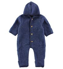 Engel Pramsuit - Wool - Blue Melange