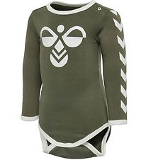 Hummel Bodysuit L/S - Flipper - Army Green
