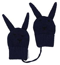 Liewood Mittens - Wool - Navy w. Rabbit