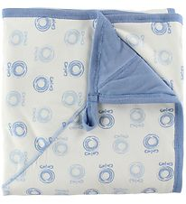 Katvig Blanket - 98x98 - Ivory/Blue w. Apples