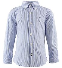 Tommy Hilfiger Shirt - Blue/White Striped