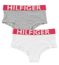 Tommy Hilfiger Hipsters - 2-Pack - Grey Melange/White