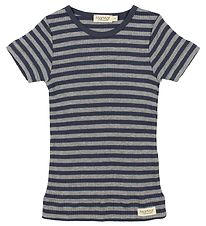 MarMar T-shirt - Navy/Grey Striped