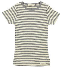 MarMar T-shirt - White/Grey Striped