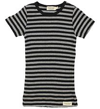 MarMar T-shirt - Black/Grey Striped