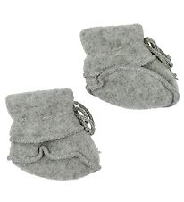 Engel Slippers - Wool - Grey Melange