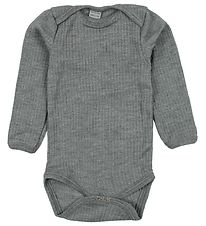 Smallstuff Bodysuit l/s - Wool - Grey Melange