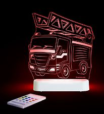 Aloka Night Lamp - Sleepy Lights - 15x14 - Fire Truck
