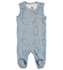 CeLaVi Romper - Wool/Bamboo - Light Blue w. Polar Bears