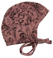 Soft Gallery Baby Hat - Hattie - Burlwood w. Owls