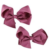 Bows By Stær Bow Hair Clips - 2-Pack - 10 cm - Fuchsia