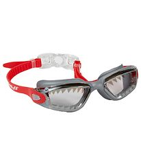 Bling2o Swim Goggles - Jaws - Red/Grey w. Shark