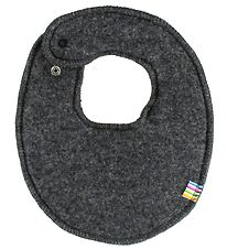 Joha Teething Bib - Wool - Charcoal