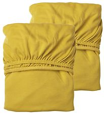 Leander Bed Sheet - Baby - 2-Pack - Mustard