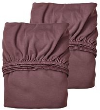 Leander Bed Sheets - Baby - 2-Pack - Deep Purple