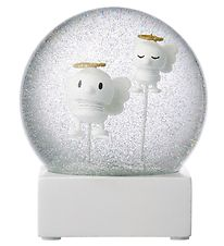Hoptimist Snow Globe - Angels - D:10 cm - White
