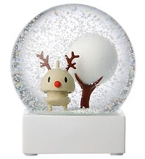 Hoptimist Snow Globe - Rudolf - D:10 cm - Light Brown