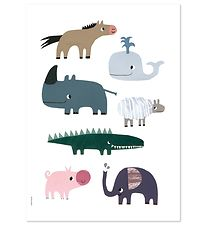 I Love My Type Poster - A3 - Happy Animals - Smiling Friends