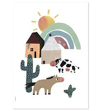 I Love My Type Poster - A3 - Happy Animals - Western Happiness