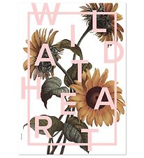 I Love My Type Poster - A3 - Power Flower - Wild At Heart