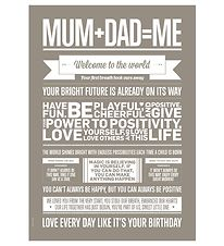 I Love My Type Poster - A3 - Love Typography - Mum + Dad = Me