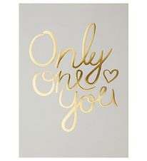 I Love My Type Poster - A4 - Only One You - Light Grey w. Text