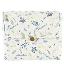 Cam Cam Changing Mat - Quilted - Pressed Leaves Blue