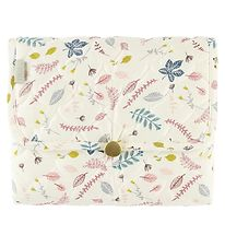Cam Cam Changing Mat - Quilted - Pressed Leaves Rose