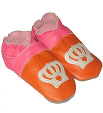 Decoy Soft Sole Leather Shoes - Orange w. Crown