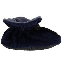 Melton Corduroy Slippers - Navy