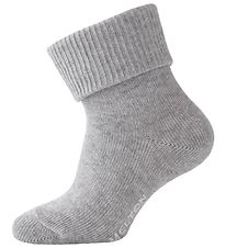 Melton Baby Socks - Light Grey