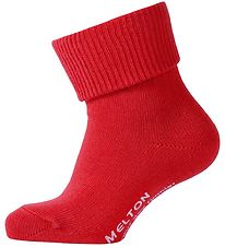 Melton Baby Socks - Red
