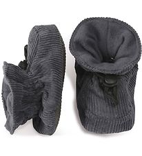 Melton Corduroy Slippers - Charcoal