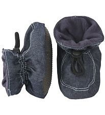 Melton Slippers - Denim Look