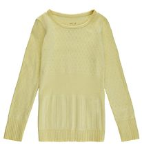 Noa Noa Miniature Blouse - Lemon Grass w. Pointelle