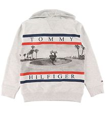 Tommy Hilfiger Hoodie - Colorblock Photoprint - Grey Melange w.