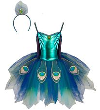 Great Pretenders Costume - Påfugl - Blue w. Glitter