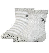 Puma Baby Socks w. Anti-Slip - 2-pack - Grey