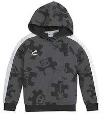 Puma Hoodie - Black/Grey w. Animals