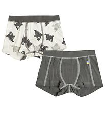 Joha Boxers - 2-pack - Bamboo - White/Grey w. Ghosts