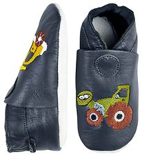 CeLaVi Soft Sole Leather Shoes - Navy w. Tractor