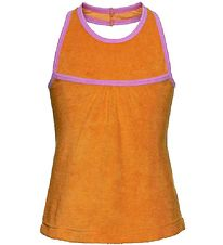 Mala Terry Top - Orange w. Pink