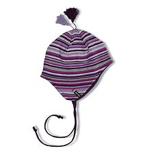 Melton Hat - Knitted - Purple Striped