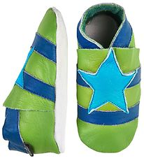 CeLaVi Soft Sole Leather Shoes - Green w. Star