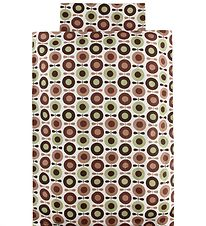 Katvig Classic Duvet Cover - Junior - Ivory w. Brown Apples