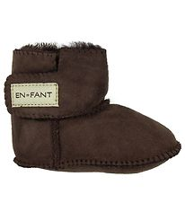 En Fant Sheepskin Slippers - Brown