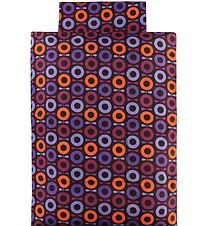 Katvig Classic Duvet Cover - Junior - Brown w. Purple/Orange App