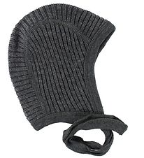 Joha Baby Hat - Knitted - Baby Wool - Charcoal