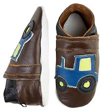 CeLaVi Soft Sole Leather Shoes - Brown w. Tractor
