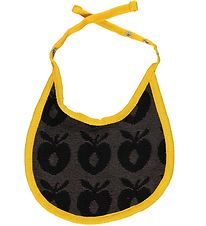 Småfolk Teething Bib - Charcoal w. Apples